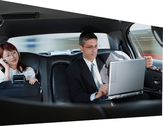 high level person working in executive vehicle