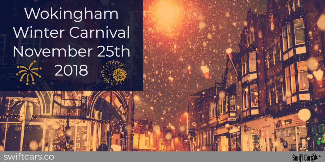 wokingham winter carnival supported by swift cars taxi company